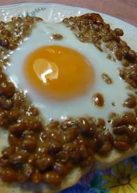 ネバネバ健康食♪目玉納豆トースト