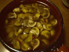 マッシュルームのガーリックオイル煮