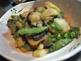 ジャガイモとナスの味噌炒め
