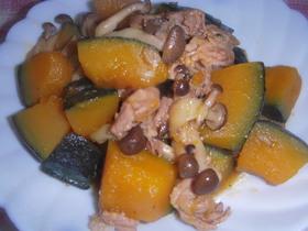 南瓜と豚小間肉の炒め煮