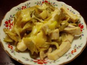 めかじきとザーサイの中華風炒め物