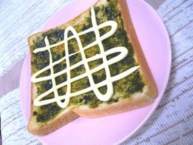 海苔の佃煮マヨ★夫のオススメ★トースト