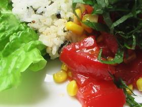 子供とお家ランチ。栄養満点トマト丼。