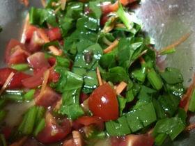 簡単ほうれん草サラダ