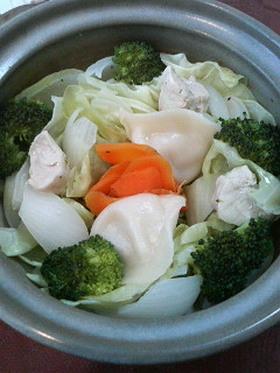 簡単ヘルシー春野菜の蒸し鍋