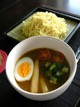 ひき肉&野菜たっぷり♡カレーつけ麺