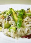 アスパラ茹で汁 DE 雑穀リゾット