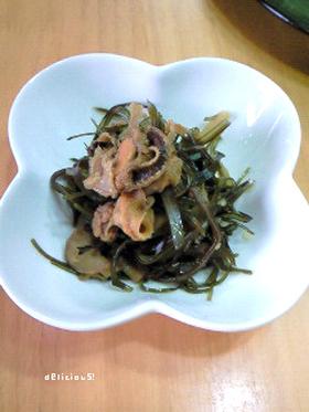 ホタテのヒモ肝&刻み昆布の煮付け