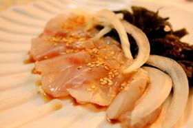 白身魚のコリアンカルパッチョ
