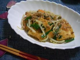 揚げ豆腐のチャンプルー風