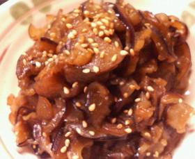 素材単品節約レシピ(^^)茄子のきんぴら