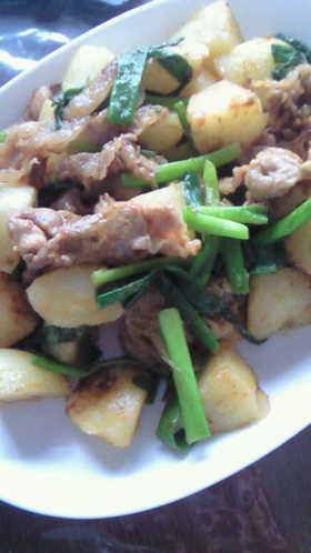 豚肉とジャガイモのカレー炒め