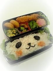 どアップキャラ弁シリーズ2♡パンダさんの写真