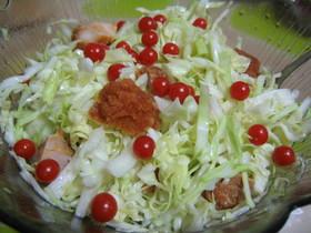 から揚げとキャベツの簡単おかずサラダ☆