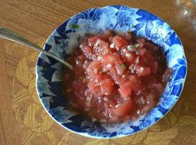 トマトと大葉のディップ