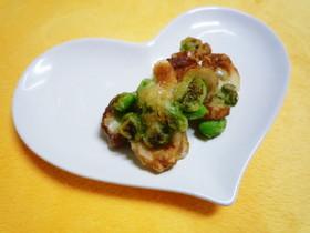 枝豆とちくわの天ぷら