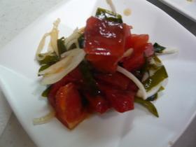トマトとワカメの酢の物