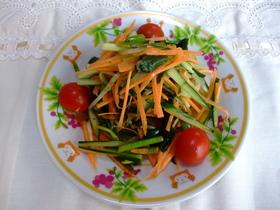 初夏の香り 三つ葉の酢漬けと三つ葉サラダ