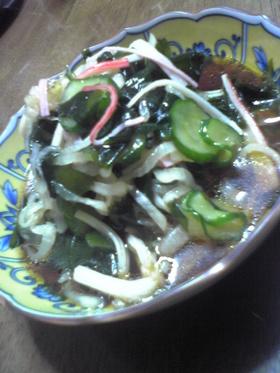 大根と若芽の中華酢サラダ
