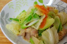 キャベツと豚バラの味噌炒め☆