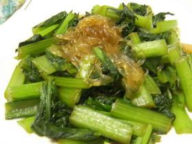 小松菜と春雨の簡単中華炒め