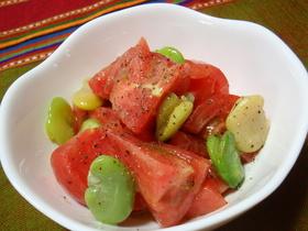 ☆トマトと空豆のアンチョビサラダ☆