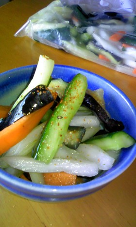 夏野菜の漬物*あっさり塩味