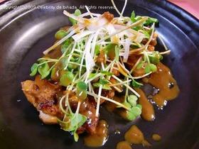 鶏のカリカリ焼きwithピーナッツソース