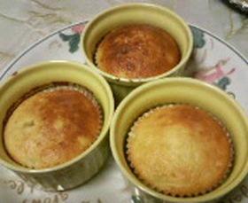 オーブントースターdeバナナカップケーキ