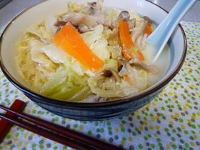 ☆がらスープであっさり豆乳ラーメン☆