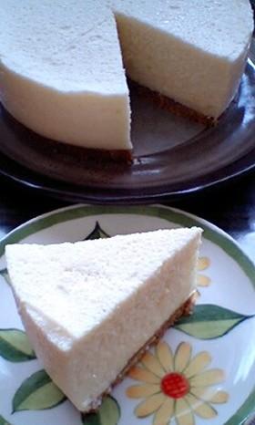 卵白消費☆ふわふわレア豆腐ケーキ♪