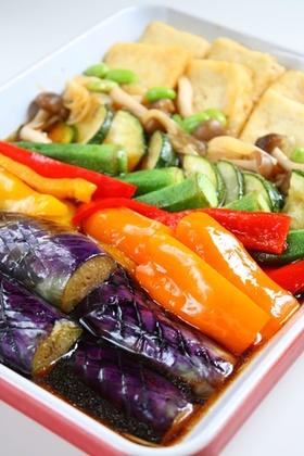 めんつゆと寿司酢で「夏野菜の和風マリネ」
