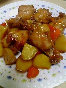 手羽先と根菜のさっぱり煮込み