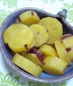 さつまいも-りんごジュース煮