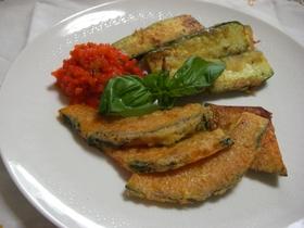 夏野菜のピカタ パプリカソース添え