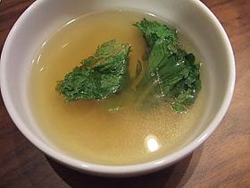 春雨とレタスのスープ