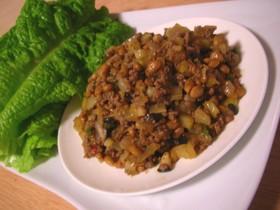 納豆と挽き肉の炒めもの