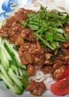 ひやむぎDEジャージャー麺