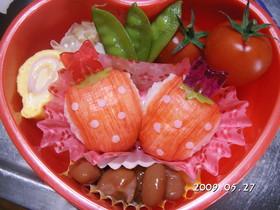 キャラ弁 イチゴ
