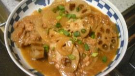 ツナとレンコンの和風カレー煮