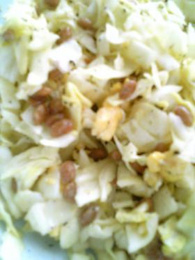簡単☆キャベツと納豆といり卵のサラダ