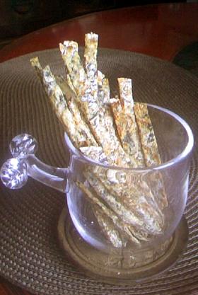 簡単!玄米茶殻のクリスピープリッツ