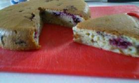 ブルーベリーバナナのHM簡単ケーキ