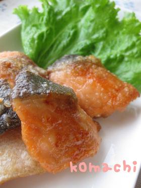 お弁当にも♫鮭のにんにく醤油焼き