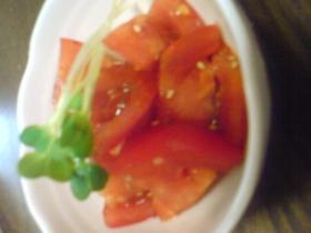 スピードメニュー☆トマトのピリ辛あえ