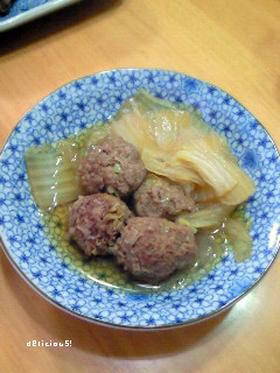 肉団子と白菜の煮込み