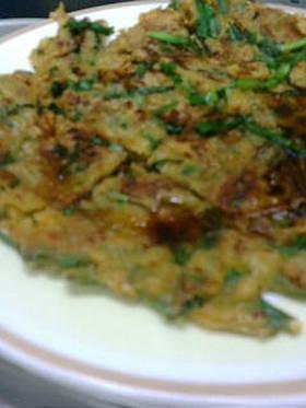 マーボー豆腐の素で作る簡単チヂミ