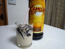 ブラックコーヒーゼリー&カルーアミルク