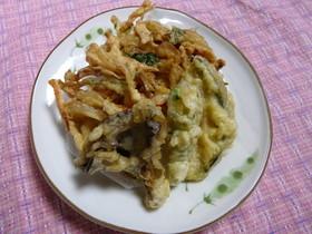 エビ入りかき揚げと野菜の天ぷら盛り合わせ