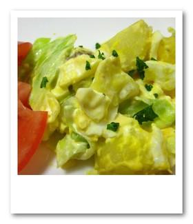 キャベツ、たまご、ポテトのホットサラダ